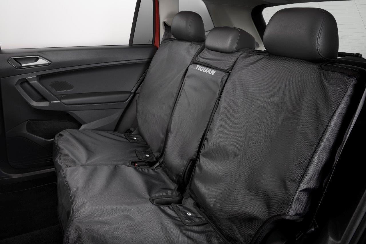 Volkswagen Tiguan Rear Seat Cover with Tiguan Logo - Black ...